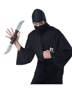 Halloween Ninja Stealth Strike Spinning Knife, Black Grey, One Size