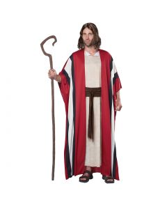 Shepherd's Staff Realistic 3pc Adult Costume Accessory Set, Brown, One-Size