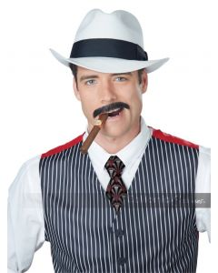 California Costumes Dandy Gangster Roaring 20s Moustache, Brown, One-Size