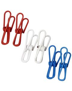 """Chef Craft USA Themed Wire Kitchen Clips 2"""" Chip Clips, Red White Blue, 6 Pack"""
