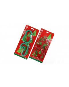 "Christmas Design Assorted Shape 3.75"" Cookie Cutters, Green Red, 4 Pack"