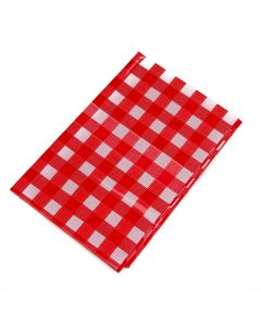 Chef Craft Checkered Gingham Picnic 52x108 In Plastic Tablecover, Red White