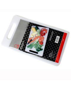 "Chef Craft Platinum Series Polypropylene 13""x8"" Cutting Board, White"