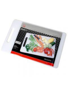 "Chef Craft Platinum Series Polypropylene 17.5""x11"" Cutting Board, White"