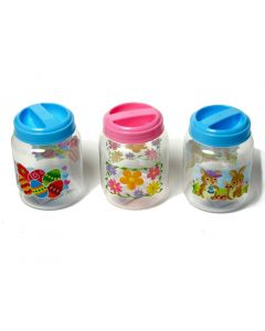 """Chef Craft Easter Storage Jar Set 5.5"""" Storage Container, Blue Red Clear, 3 Pack"""
