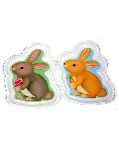 "Clear Plate Easter Bunny Spring Serving 10.5"" Decorative Plate, Brown, 2 Pack"