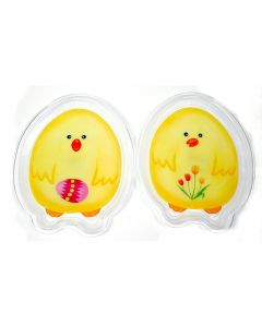 "Clear Plate Easter Chick Snack Chirp 10.5"" Decorative Plate, Yellow, 2 Pack"