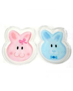 "Clear Plate Easter Bunny Face Snack 10.5"" Decorative Plate, Multicolors, 2 Pack"