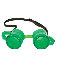 St. Patrick's Day Beer Mug Eyewear Goggles, Green, One-Size, 6 Pack