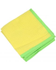 """Chef Craft Platinum Bright Color Cotton 12.5"""" Dish Cloth, Yellow Lime Green"""