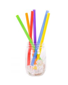 "Chef Craft Jumbo Thick Smoothie & Shake 9"" Bright Color Plastic Straws, 25 Pack"