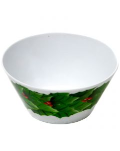 "Chef Craft Festive Christmas Wreath 6"" Decorative Bowl, White Green Red"