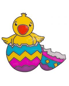 "Chef Craft Easter Chick Hatching PVC Decoration 7"" Window Cling"