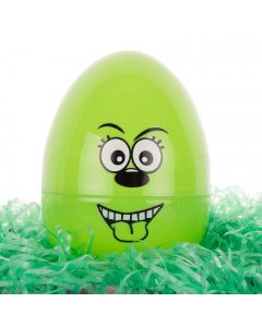 """Chef Craft Easter Egg Character 6.5"""" Storage Container, Green"""