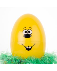 """Chef Craft Easter Egg Character 10"""" Storage Container, Yellow"""