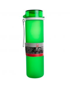 Chef Craft Frosted Tritan Break Resistant Polymer 27oz Water Bottle, Dark Green