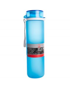 Chef Craft Frosted Tritan Break Resistant Polymer 27oz Water Bottle, Light Blue