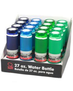 Chef Craft Frosted Tritan Break Resistant Polymer Flip Top 27oz Water Bottle
