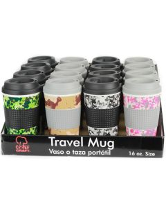 Veil Entertainment Chef Craft Double Wall Insulated Camouflage 16.5oz Travel Mug