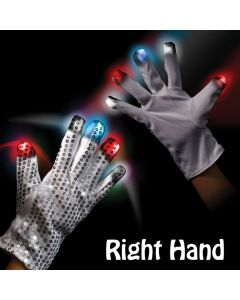 Supreme LED Sequin Rock Star (Right Hand) Glove, Red White Blue, One-Size