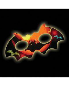 "Supreme Glow Comfortable Bright Bat Mask 5"" Halloween Glow, Orange"