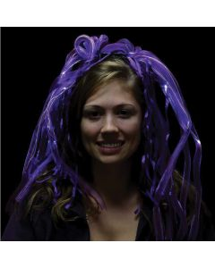 Supreme Light Up Diva Dreads Party Noodle Hair LED Headband, Purple, One Size