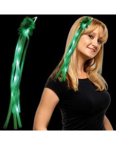 Supreme Diva Princess Light Up Ribbons LED Hair Accessory, Green White, 18""