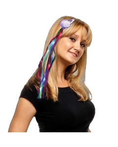 Supreme Diva Hanging Light Up Ribbons Hair Clips, Rainbow, 18""