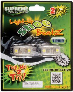 Supreme Led Shoe Beatz Light Up Laces 2pc LED Shoelaces, White, One Size