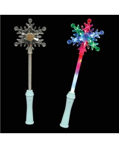 "Supreme Holiday Light-Up Winter Princess Snowflake 15"" LED Wand, White"