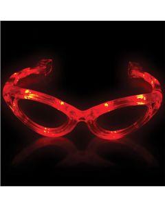 Supreme Light Up Blinking Sunglasses LED Glasses, Red, One Size