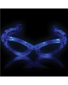 Supreme Light Up Blinking Sunglasses LED Glasses, Blue, One Size