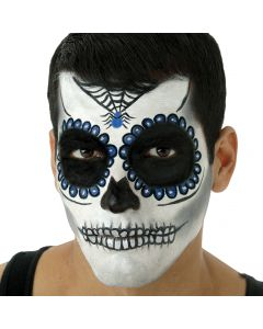 Woochie Day of The Dead Sugar Skull Complete 10pc 23g Makeup Kit, Blue