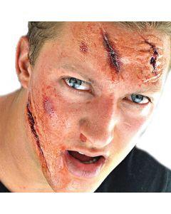 """Injury 2"""" Peel n Stick Cuts & Tattoo Special Effects Kit, Beige Red"""