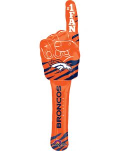 "Denver Broncos Super Bowl 50 Football Spirit Stick 30"" Foil Balloon, Orange Blue"