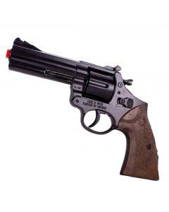 Gonher Halloween Die-Cast Metal Prop Crime Scene Detective Gun, Brown