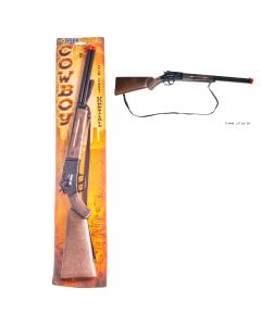"Cowboy Die Cast Metal 12-Shot Rifle Costume Toy Gun, Brown Black, 29.5""x5""x1.5"""