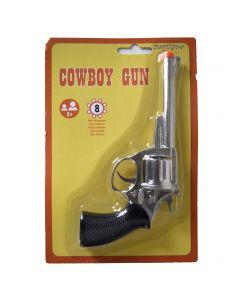 Funny Fashion Halloween Costume Accessory Prop Cowboy Cowgirl Gun, Silver