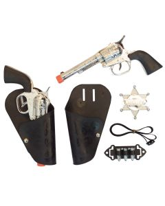 Funny Fashion Wild Western Sheriff Cowboy or Girl Kit Gun & Holster, Black
