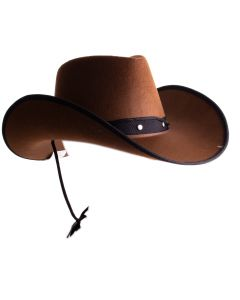 Funny Fashion Deluxe Sheriff Costume Cowboy Hat, One-Size, Brown Black