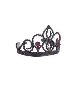 Funny Fashion Evil Queen Princess Crown Tiara, Black, One-Size
