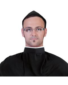 Halloween Clerical Priest Shirt Collar Costume Accessory, Black White, One-Size