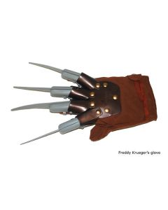 "Scary Nightmare Knives Costume Glove, Brown Black Silver, 12""x6.5""x2"""