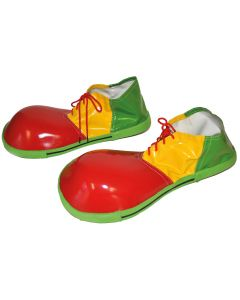 Funny Fashion Jumbo Oversized Clown Costume Shoes, Red Yellow Green, One-Size