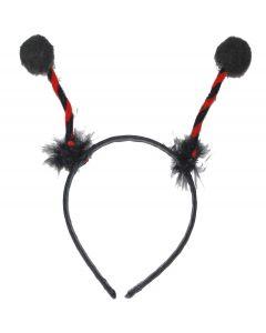 Cute Ladybug Bug Antenna Costume Headband Boppers, Red Black, One-Size