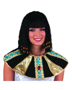 Funny Fashion Queen of The Nile River Cleopatra Costume Wig, Black, One-Size