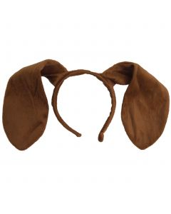 Funny Fashion Soft And Plush Dog Ears Headband, Brown, One-Size
