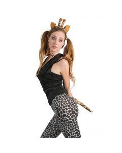 Funny Fashion Giraffe Playset 3pc One-Size Costume Accessory Kit, Yellow Orange