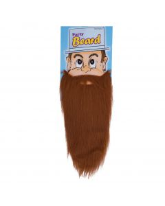 Funny Fashion Halloween Costume Party Long Beard, Brown, One-Size