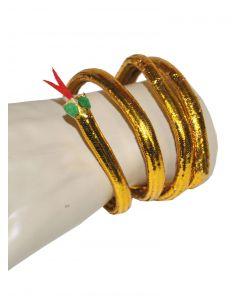 Funny Fashion Cleopatra Egyptian Snake Asp Bracelet, Gold, One-Size